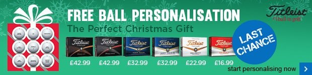 Free Titleist ball personalisation - from £16.99