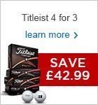 Titleist 4 for 3 2016 - £42.99